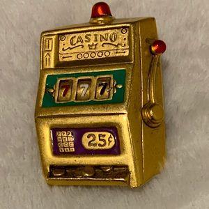 Vintage Danecraft Casino 777 Slot Brooch